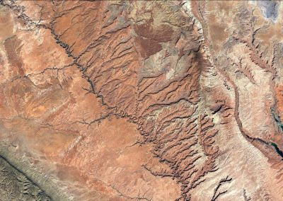 Escalante River drainage from space