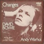 Image of cover of David Bowie's Changes single.