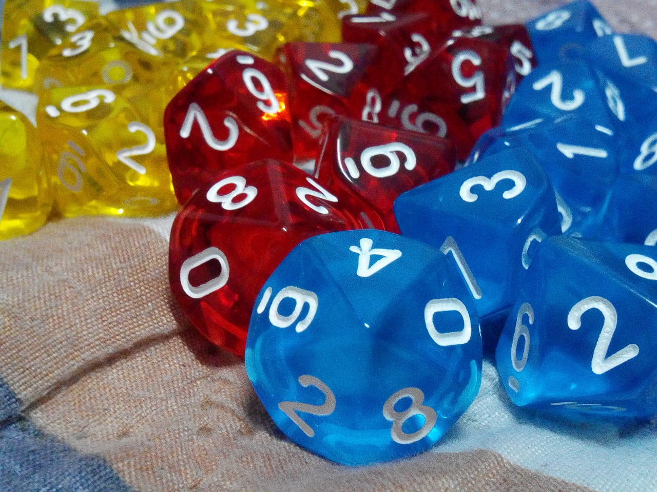 Multi-sided dice - random portfolio generator